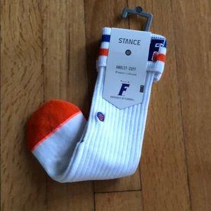 Florida gator anklet cuff women's socks, OS